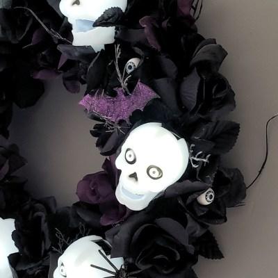 Skulls and Roses Wreath