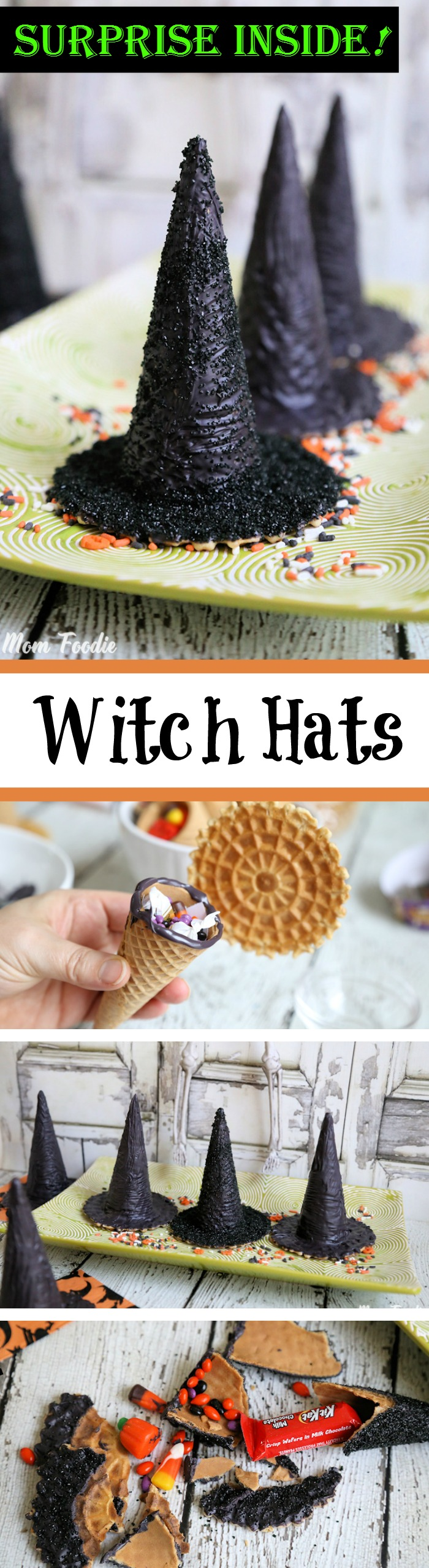 Surprise Inside Edible Witch Hats Treat Containers Tutorial
