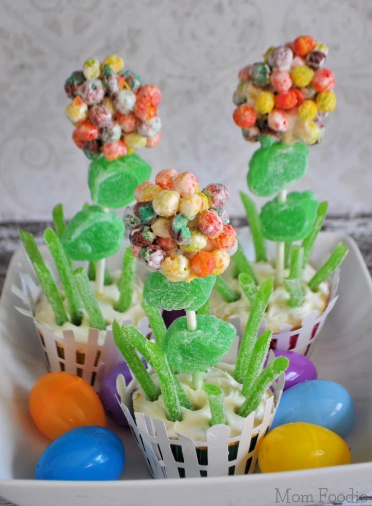 Trix Flowers Cupcakes