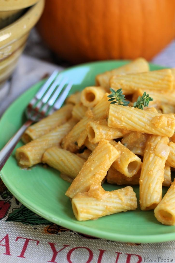 Vegan Creamy Pumpkin Pasta Recipe