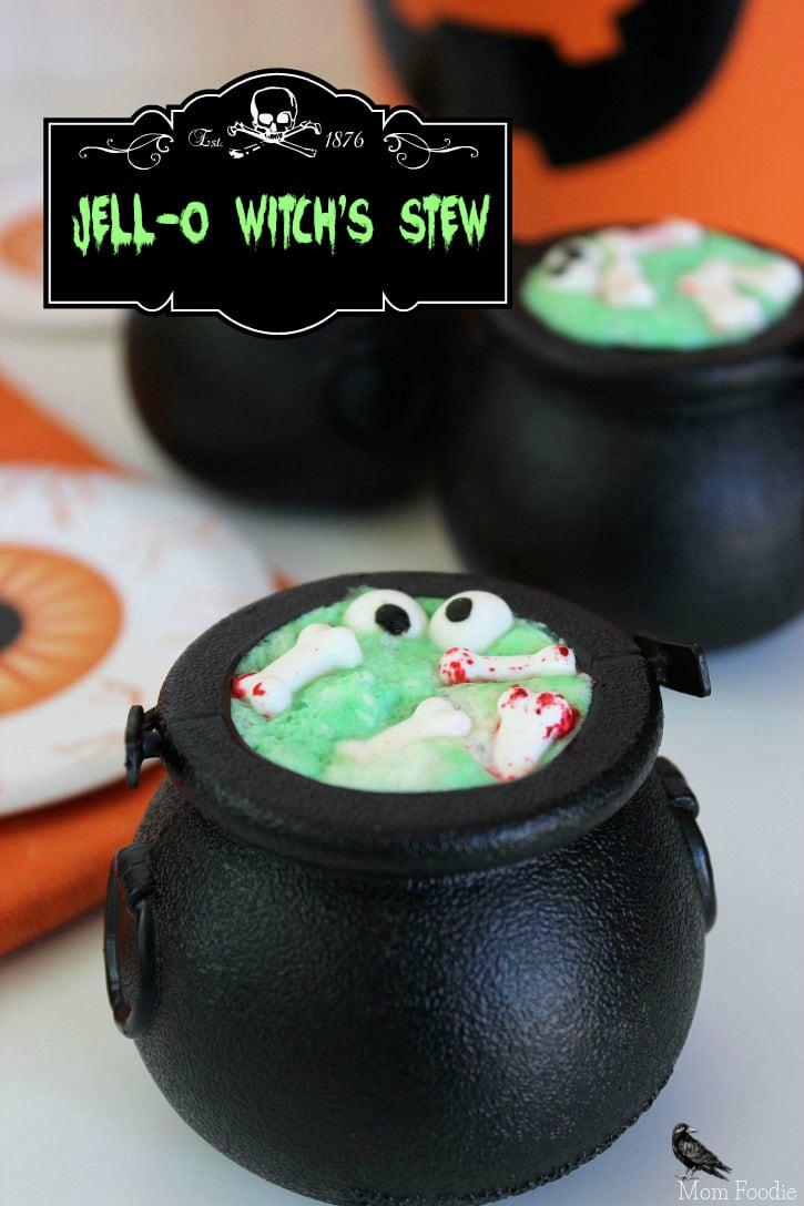 Jell-O Witch's Stew Cauldrons