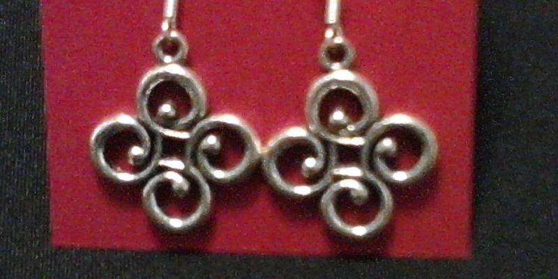 Silver Earrings by Gramcracker Designs