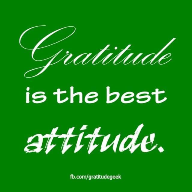 Gratitude is the best Attitude.