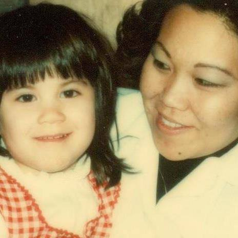 Mom and me in 1973