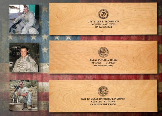 The first three Fallen Hero Memorial Chests will be given to the families of these brave servicemen.