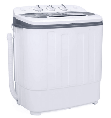 Best Choice Products Portable Compact Mini Twin Tub Washing Machine and Spin Cycle
