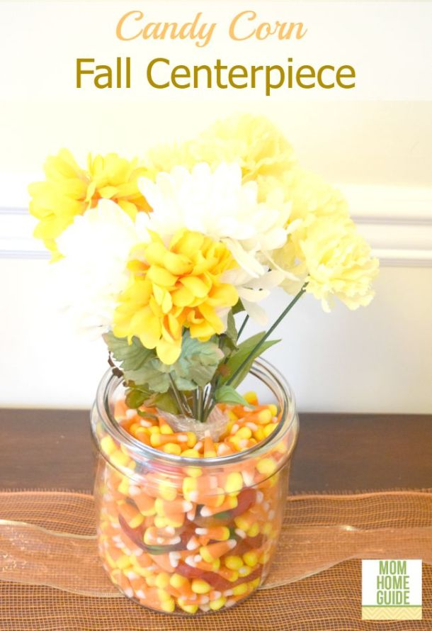 candy corn vase centerpiece