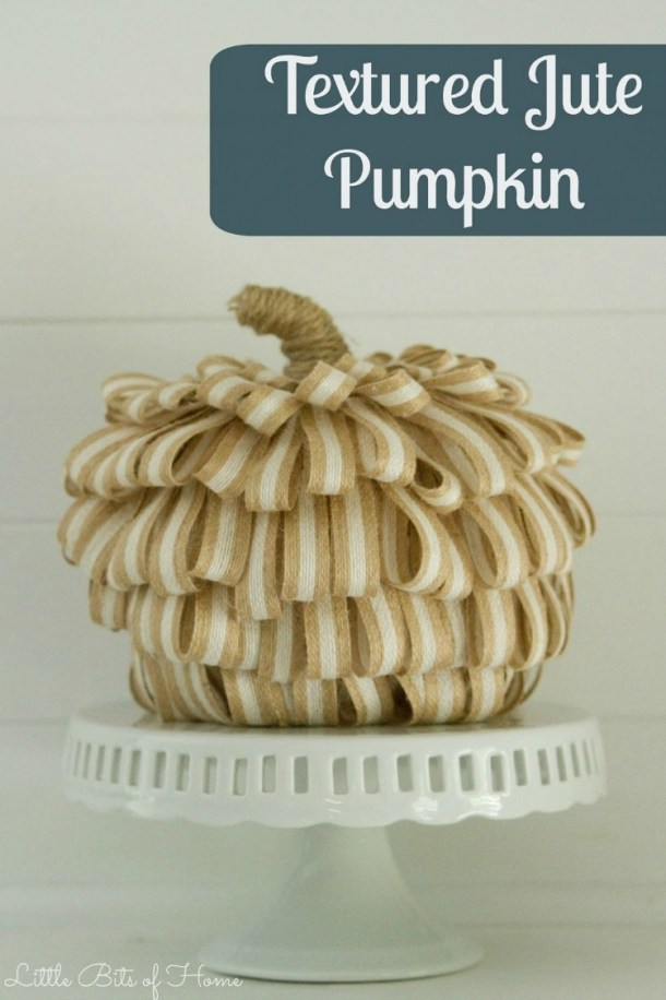 textured jute pumpkin for fall