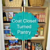 Coat Closet to Kitchen Pantry Reveal