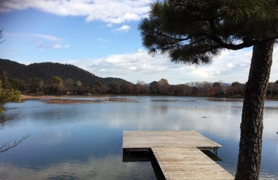 The man-made Osawa Pond, created during the Heian era (roughly 1200 years ago!)