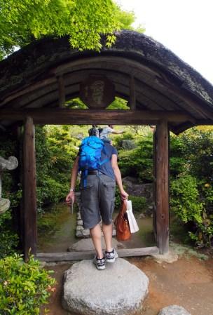 Entering the Okochi-Sanso Villa