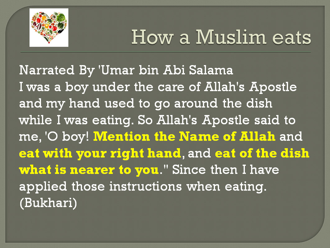 1 Muslim Eating Manners Happy Land