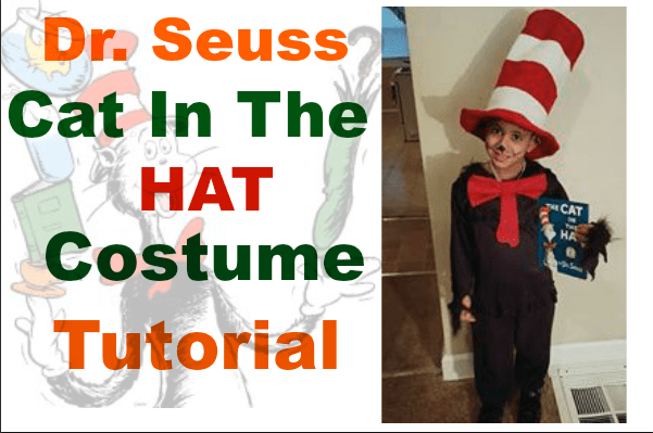 "DIY DR SEUSS COSTUME ""CAT IN THE HAT"" graphic"
