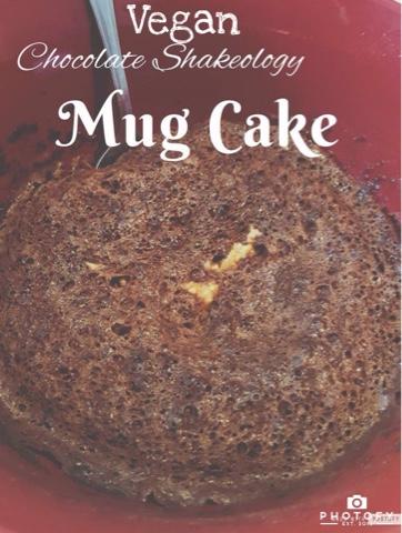 Vegan Chocolate Shakeology Mug Cake graphic
