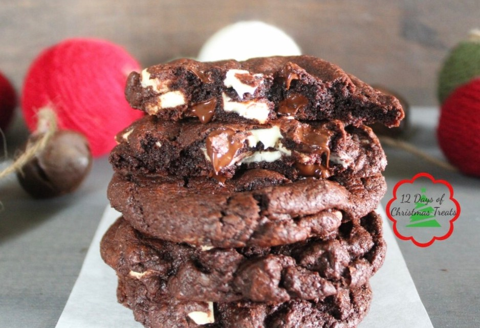 Double Chocolate Peppermint Chunk Cookies