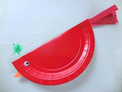Red Cardinal Bird Craft Stranger in the Woods https://momistheonlygirl.com