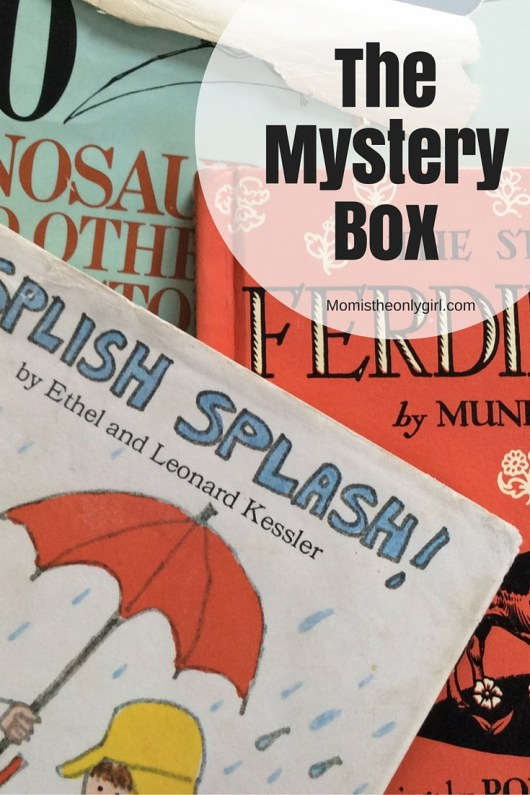 The Mystery Box - opening a mysterious box of books from childhood can ignite the imaginations of your kids! https://momistheonlygirl.com