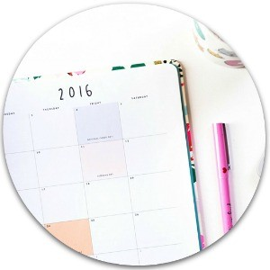 Start Big…get small ~ everyday calendar items