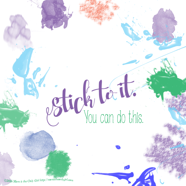 Stick to It encourager for the iPad at momistheonlygirl.com