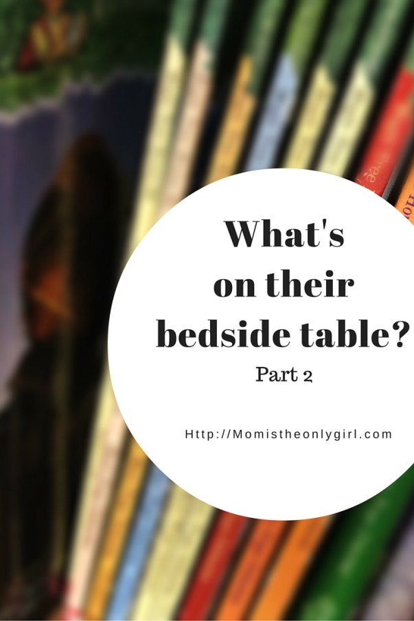 What's on their bedside table? Recommendations for 7 year olds by a 7 year old at http://momistheonlygirl.com