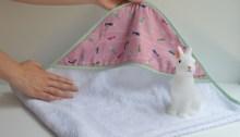 coser capa baño bebe