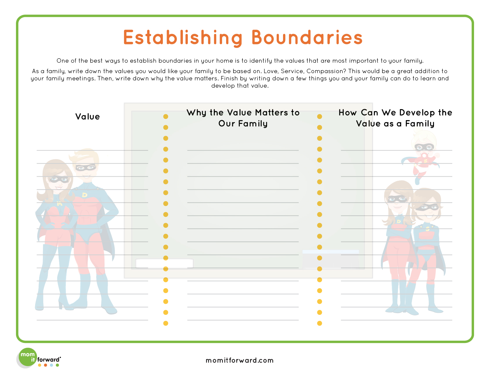 Strengthening Families Boundaries