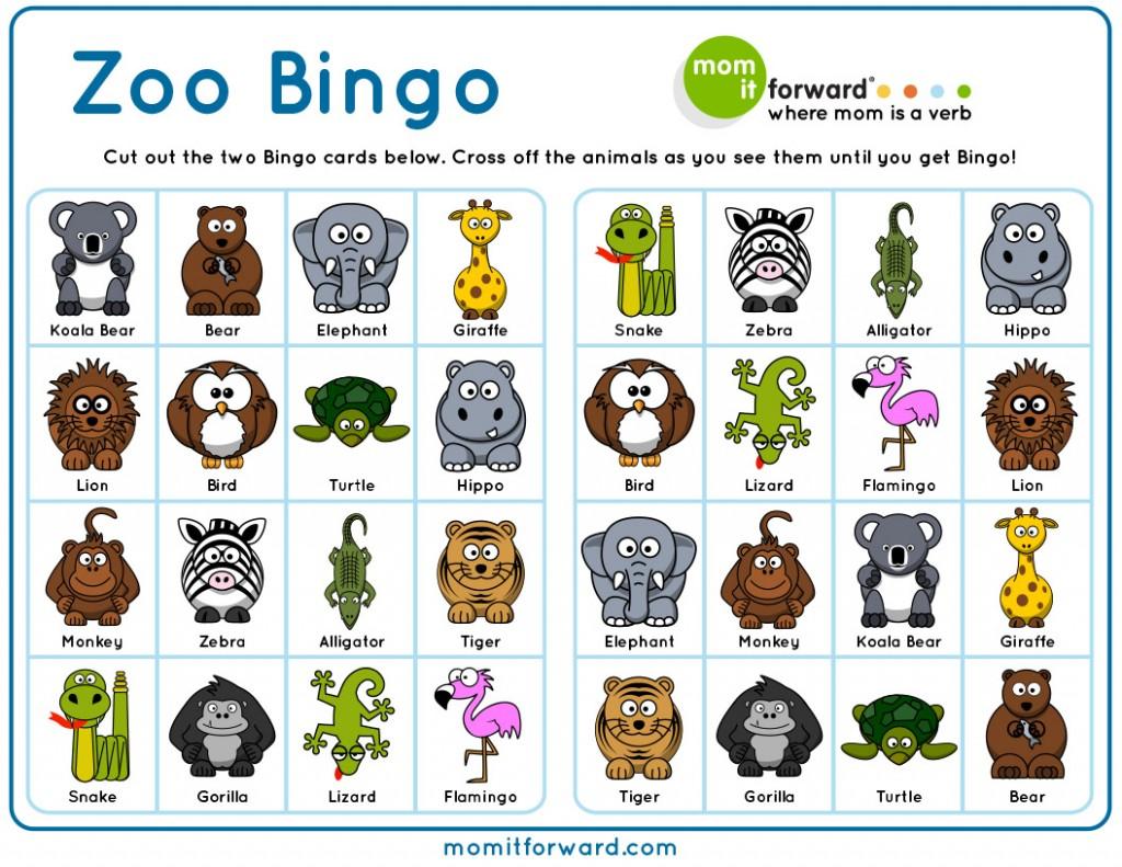 Zoo Bingo Printable