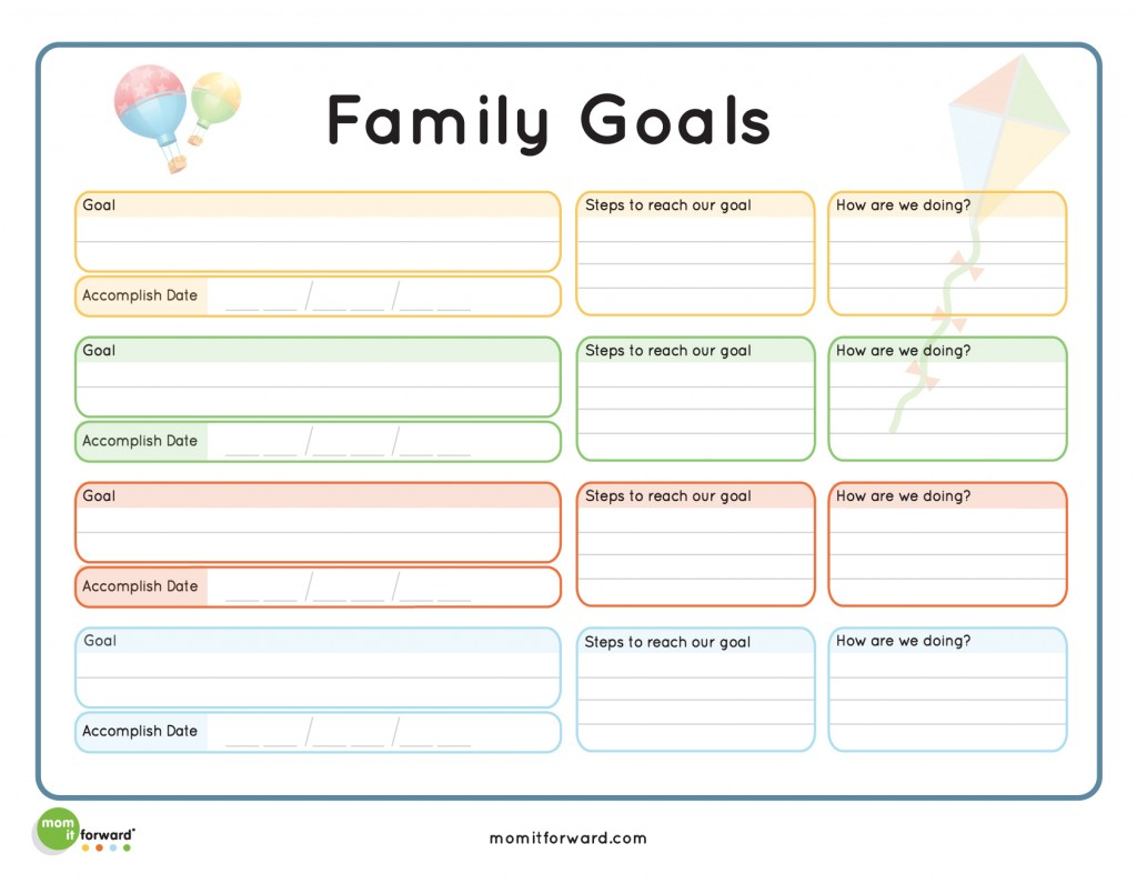 New 408 Family Goal Setting Worksheet