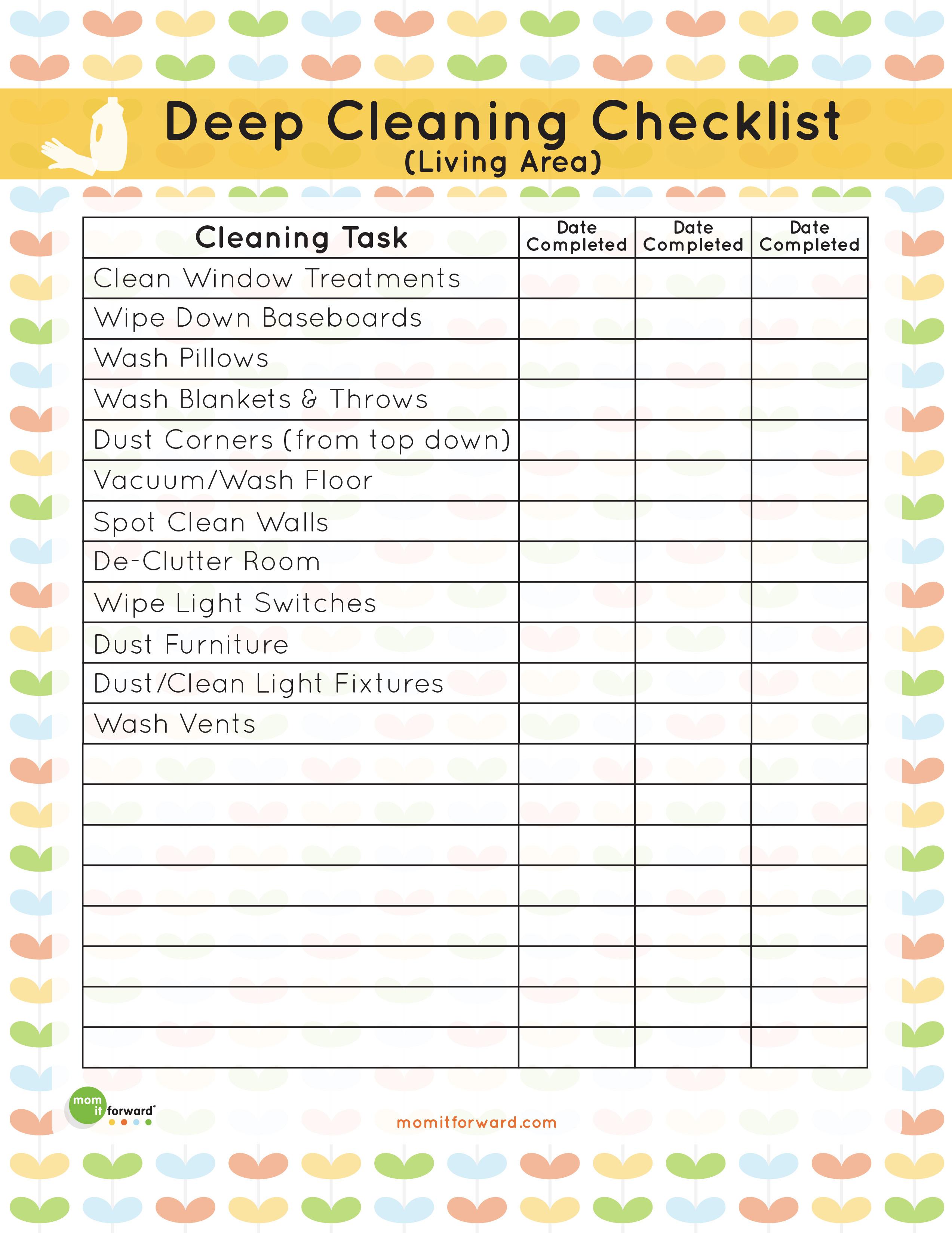 Bathroom Inspection Sheets