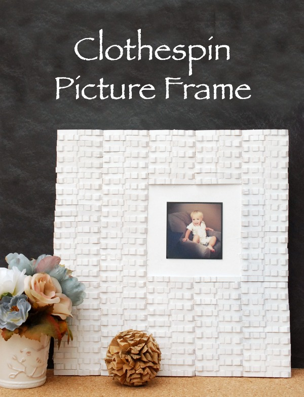 DIY Clothespin Picture Frame | Endlessly Inspired