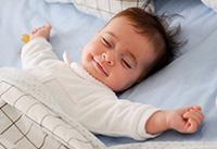 Het kind gaat slapen