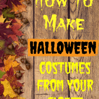 Make Halloween Costumes from your Closet!