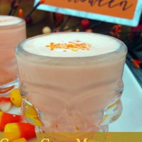 Halloween Candy Corn Recipes- Milkshake