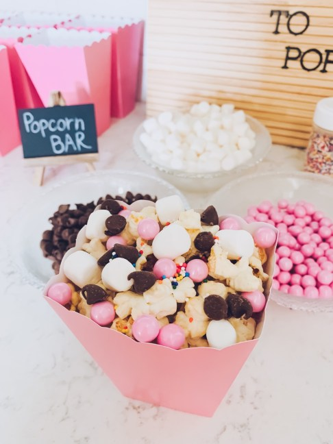 Shower For Baby Girl: Madison Popcorn Bar