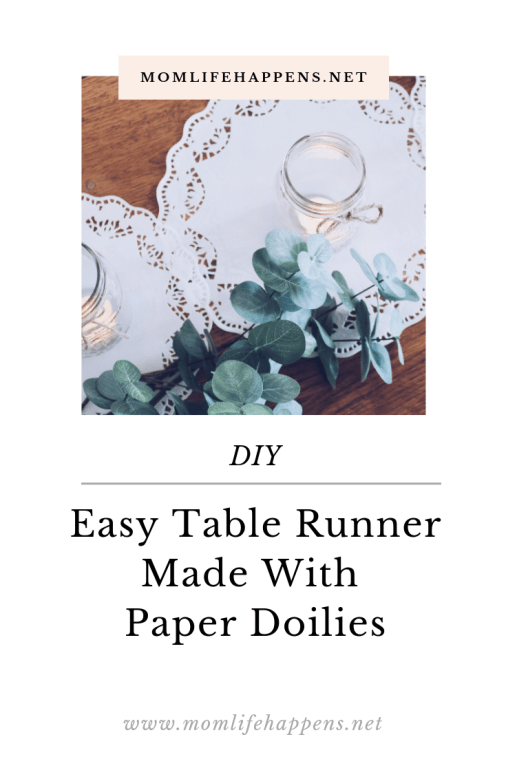 DIY Paper Doilies Table Runner