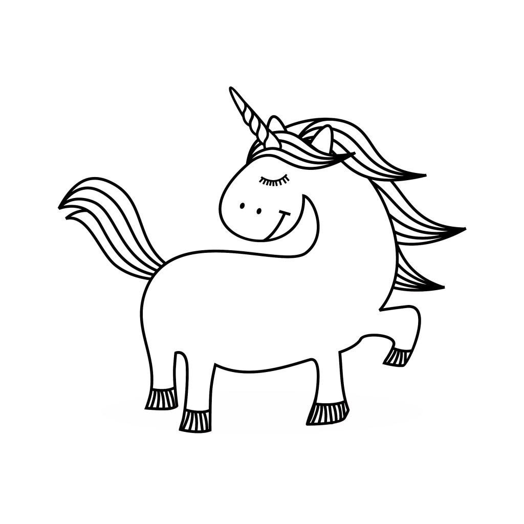 cute unicorn color page book