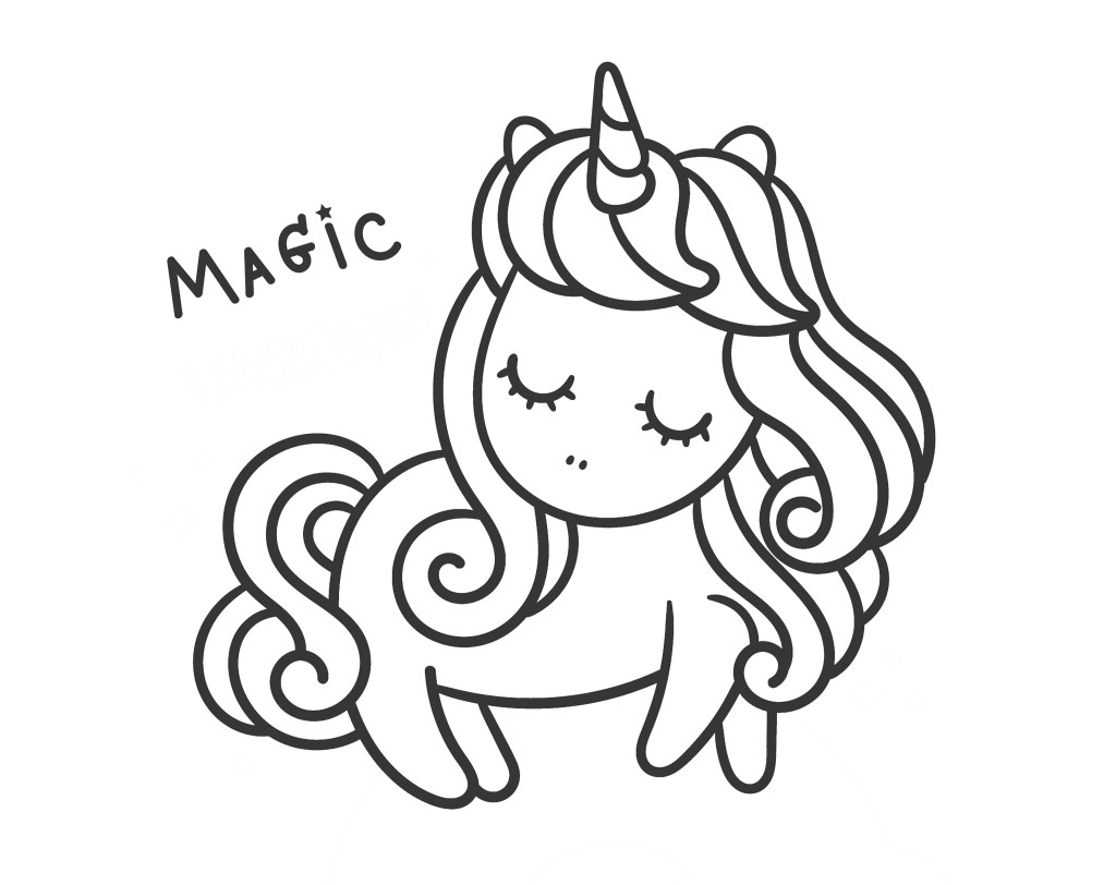 unicorn on a rainbow coloring book pages