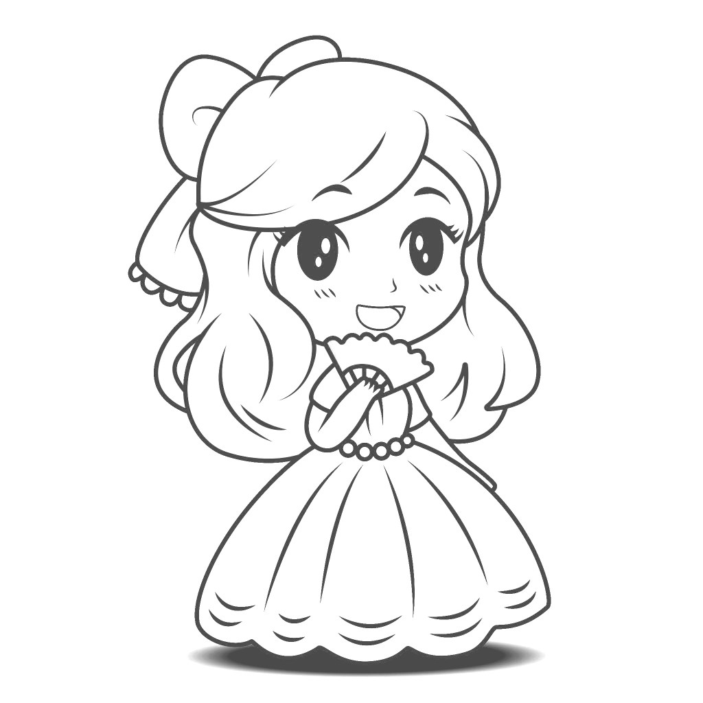 The Cutest Princess Coloring Pages for FREE ...