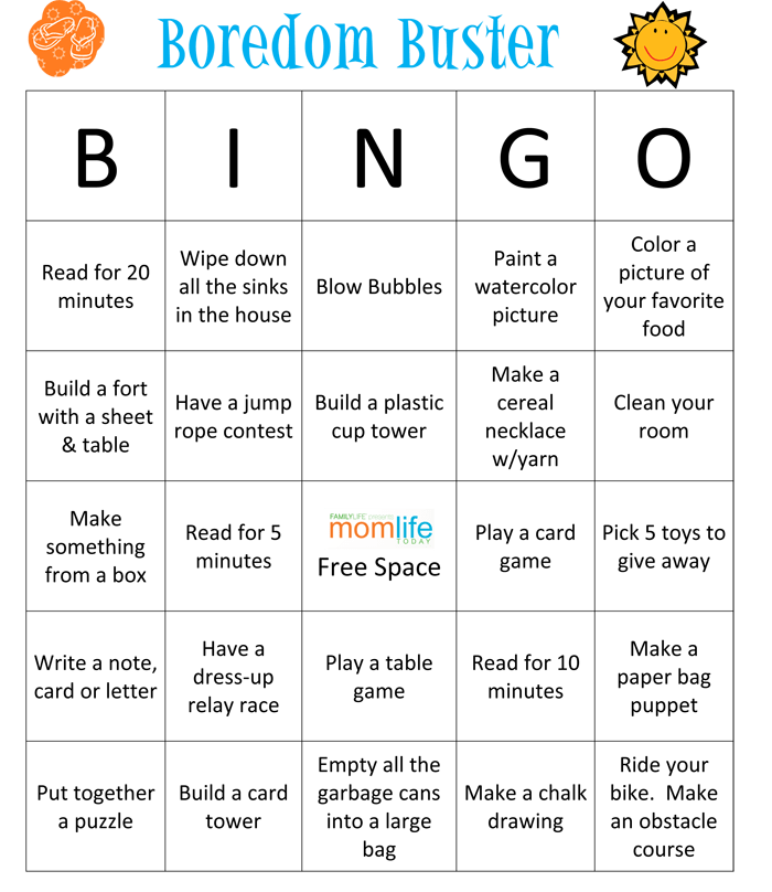 Summer Fun Bingo MomLife Today