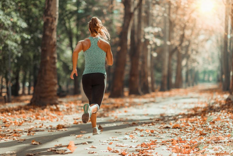 Mom running to reduce her anxiety