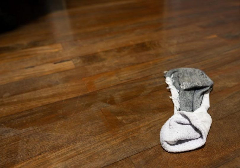 Embrace the mess of dirty socks on floor