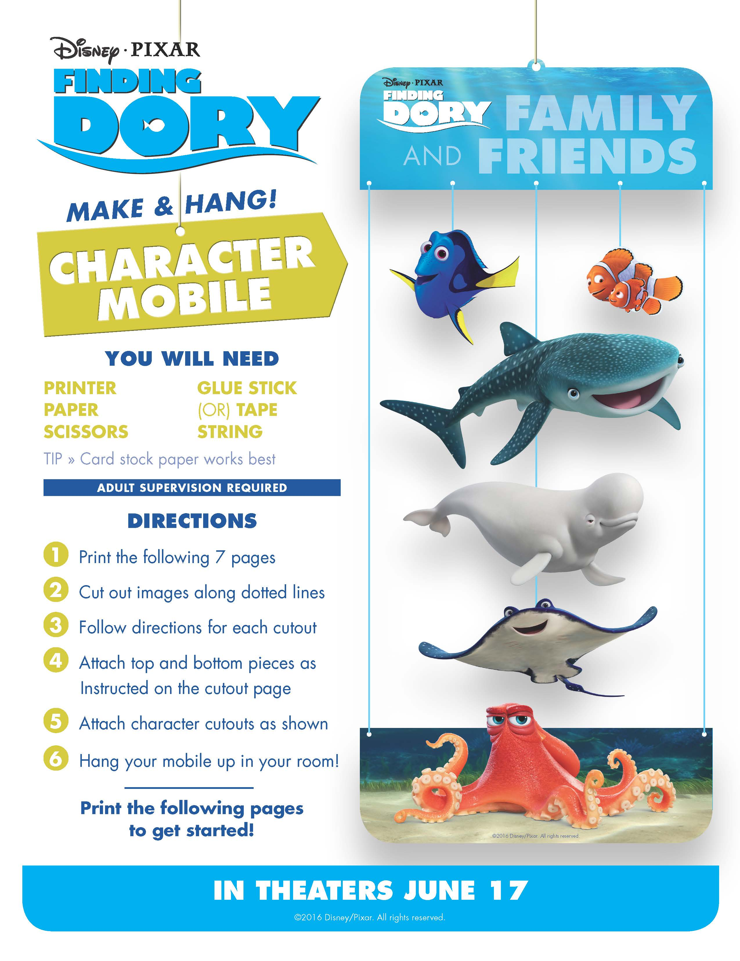Finding Dory Memory Game And Printables