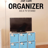 How I Used A Six Cube Organizer As A Television Stand