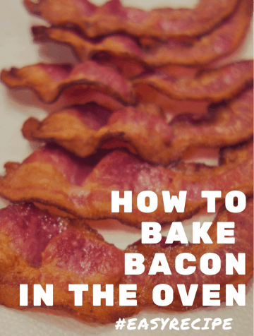 Use this easy recipe to bake crispy bacon in the oven, less mess, less stress! Perfect for Busy Moms!