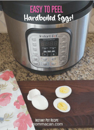 Instant Pot Hard Boiled Eggs — Must Try! Instant Pot eggs turn out awesome every time! These steamed eggs are easy to peel, perfectly cooked and never have those discolored green yolks. The Instant Pot and this hard boiled egg recipe have truly changed the way folks cook today!   MommaCan