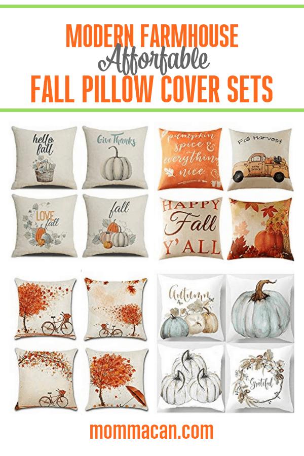 modern farmhouse affordable fall pillow
