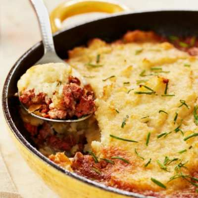 Skillet Shepherd's Pie With Cauliflower Mash