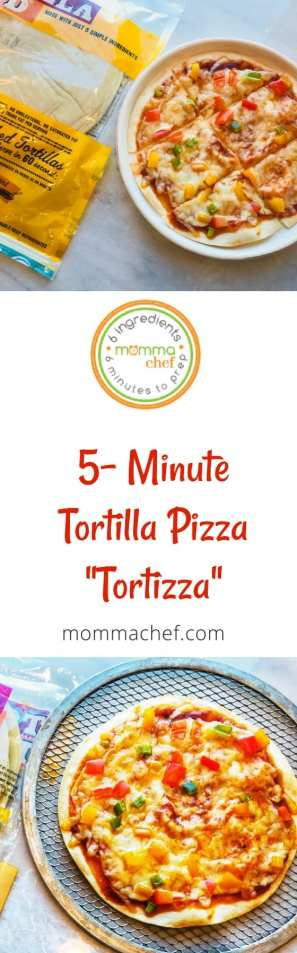 Quick and Easy Tortilla Pizza