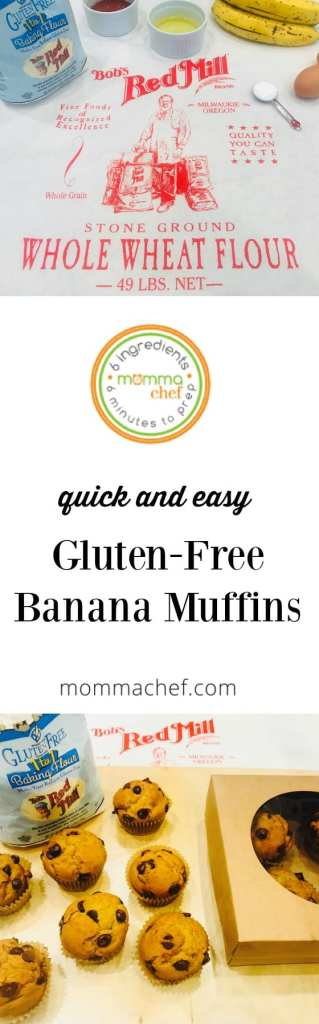Quick and Easy Gluten Free Banana Muffins