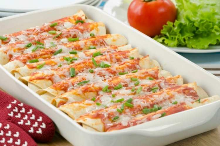 Oh- So Simple and Delicious Vegetarian Enchiladas
